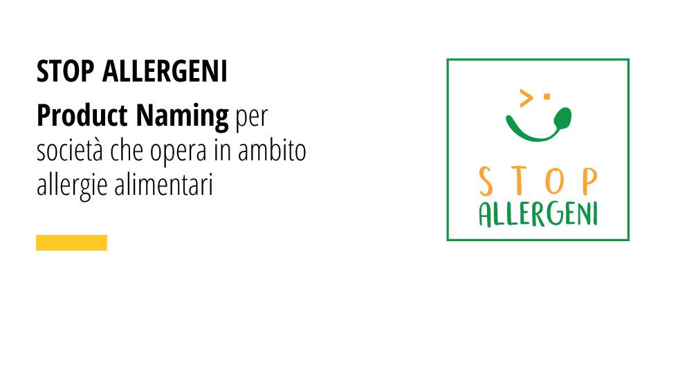 Product Naming Per Azienda Che Opera In Ambito Allergie Alimentari