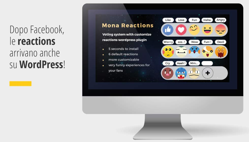 Dopo Facebook Le Reactions Arrivano Anche Su WordPress Grazie Al Nuovo Plugin Mona Reaction