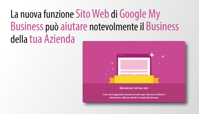 Nuova Funzione Sito Web Di Google My Business