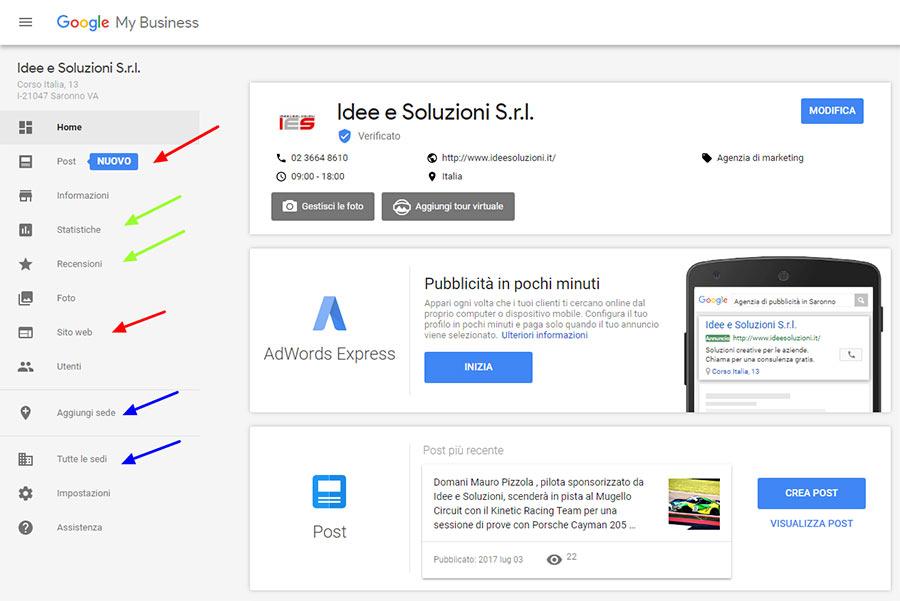 nuove funzionalità di Google My Business