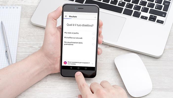 Creazione di campagne marketing e pubblicitarie a pagamento su Instagram