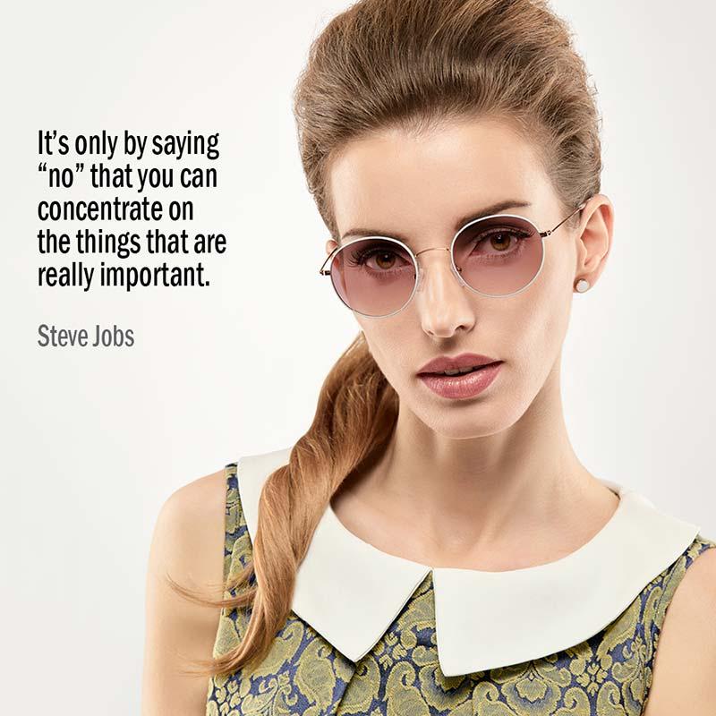 È Solamente Dicendo 'no' Che Puoi Concentrarti Sulle Cose Veramente Importanti. Steve Jobs