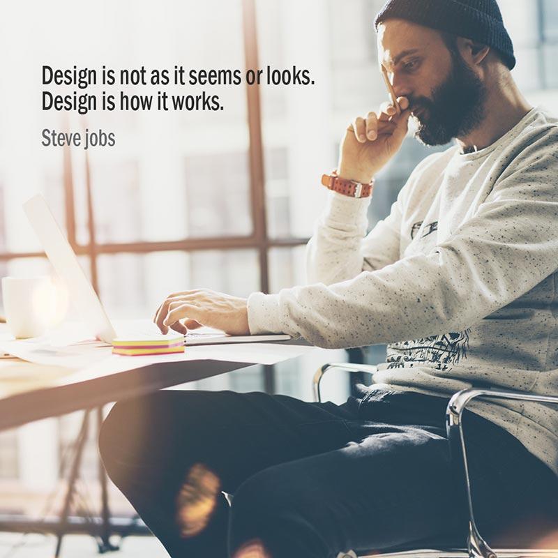Citazione di Steve Jobs sul design