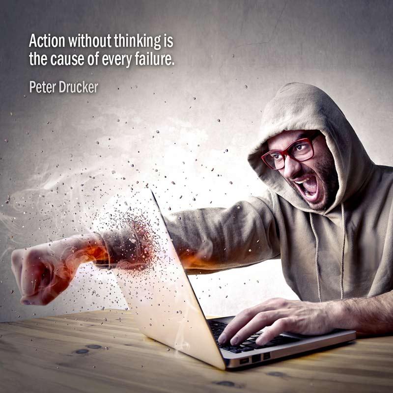 Citazione Di Peter Drucker Sulle Cause Di Un Fallimento