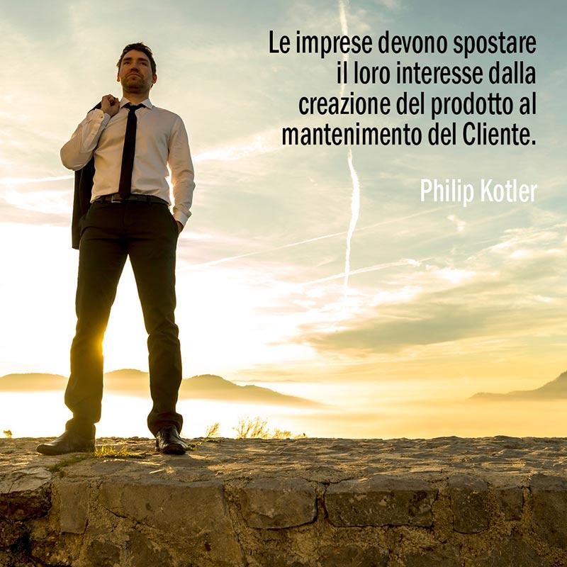Citazione Di Philip Kotler Sul Mantenimento Del Cliente