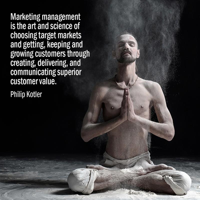 Citazione Di Philip Kotler Sulla Gestione Del Marketing