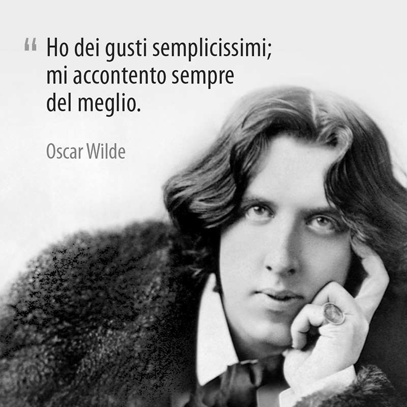 Famosa Citazione Di Oscar Wilde Sui Suoi Gusti