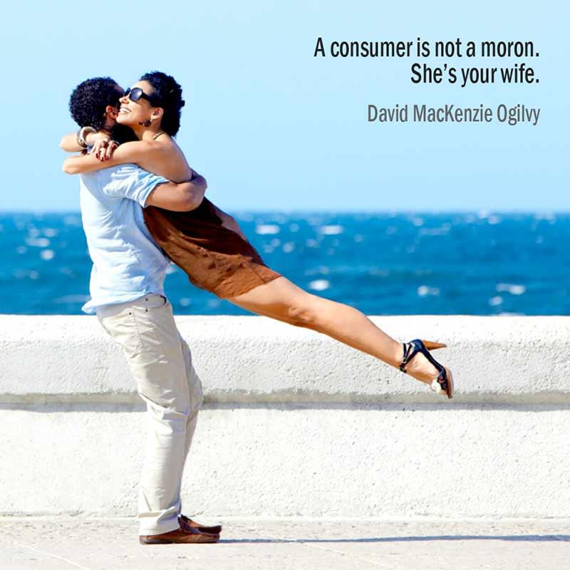 Citazione Di David MacKenzie Ogilvy Sul Consumatore