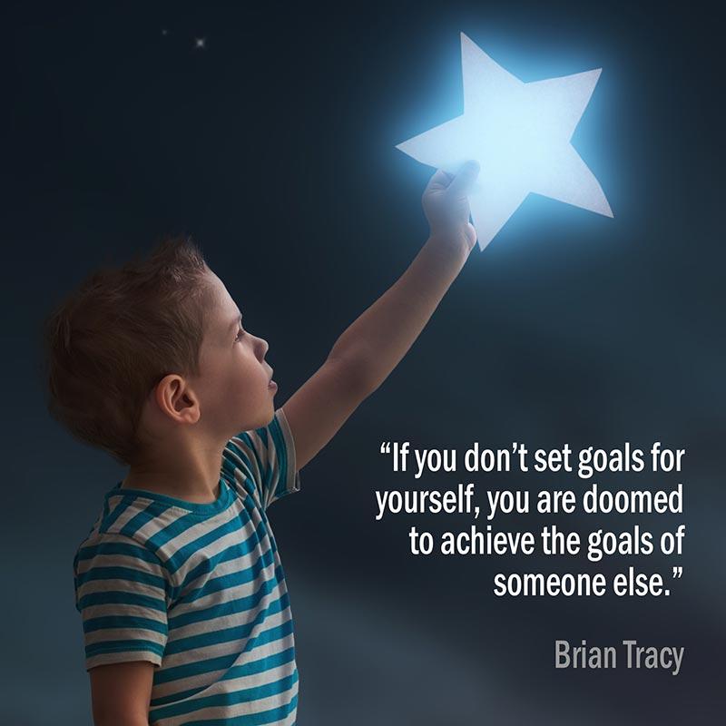 Citazione Di Brian Tracy Sulla Definizione Degli Obiettivi