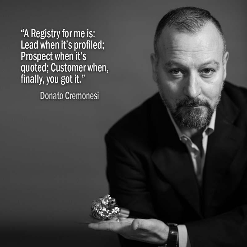 Un'anagrafica per me è: Lead quando non l'hai profilata; Prospect quando hai fatto un preventivo; Customer quando, finalmente, lo hai portato a casa. Donato Cremonesi
