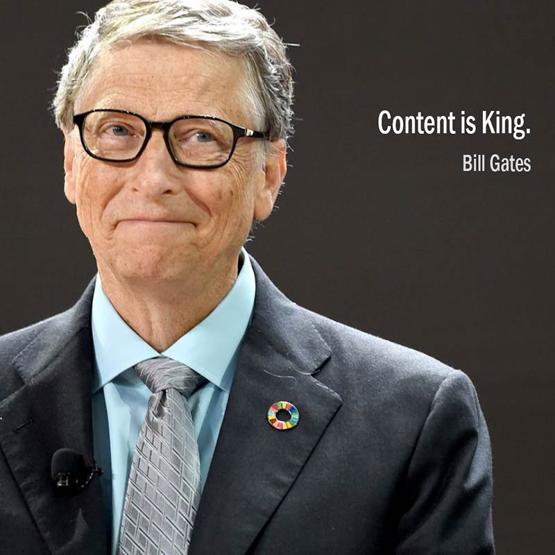 Citazione di Bill Gates: Content is King Bill Gates