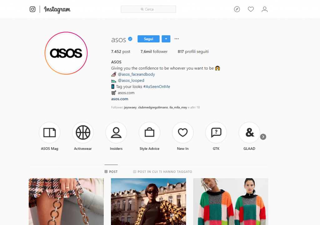 Biografia instagram marketing