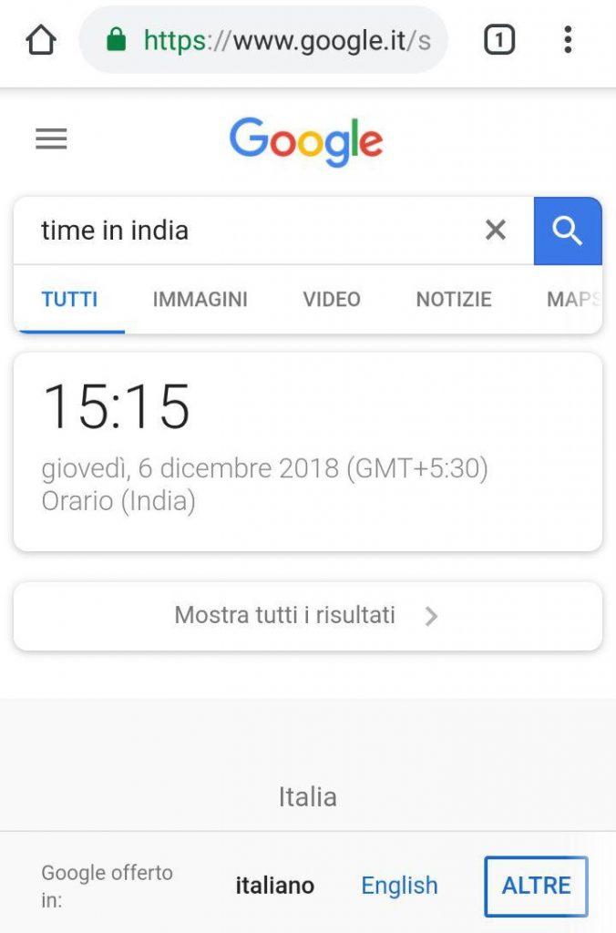 risultati zero di Google