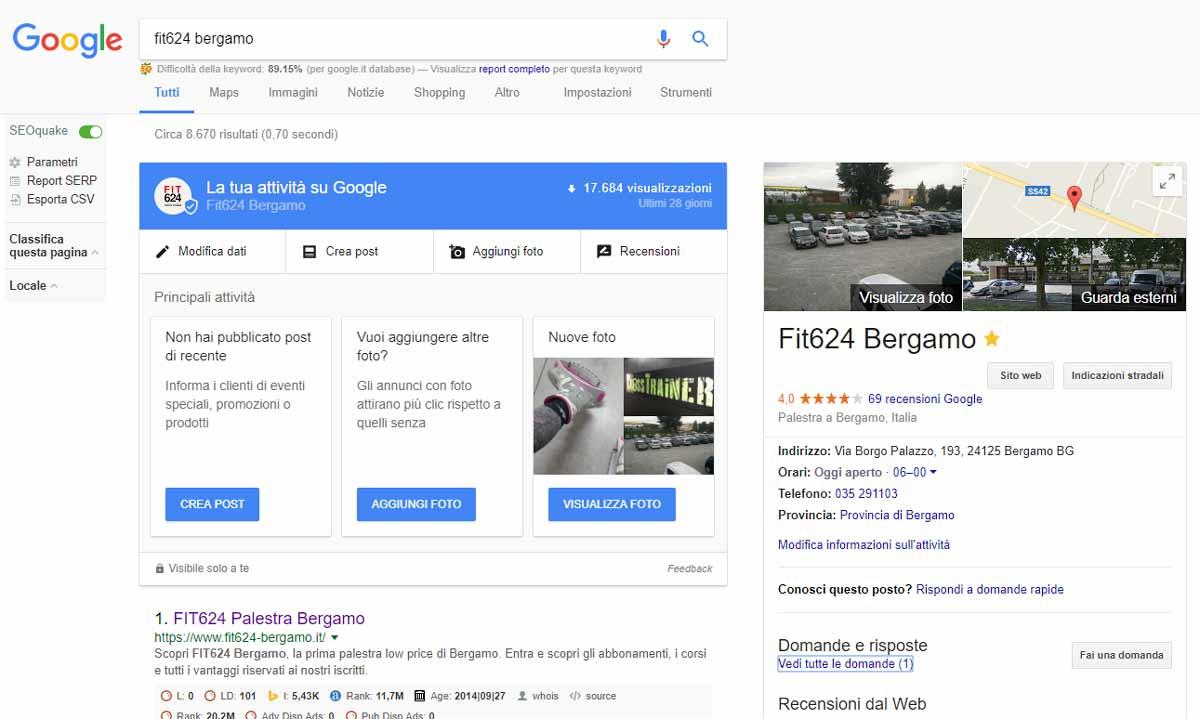 Modificare Pagina Google Plus direttamente dal motore di ricerca