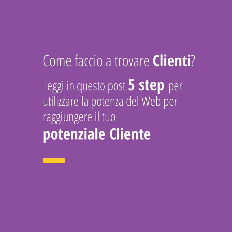 5 step per utilizzare la potenza del web per trovare clienti