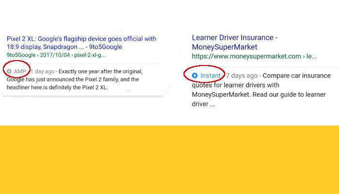 Google testa Pagine AMP e Pagine Instant