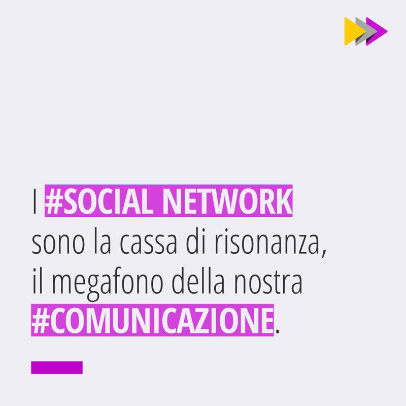 I #SOCIAL NETWORK sono la cassa di risonanza il megafono della nostra #COMUNICAZIONE.