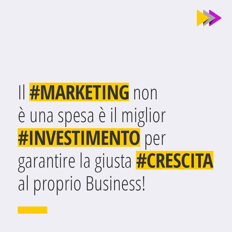 Il #MARKETING non è una spesa è il miglior #INVESTIMENTO per garantire la giusta #CRESCITA al proprio Business!