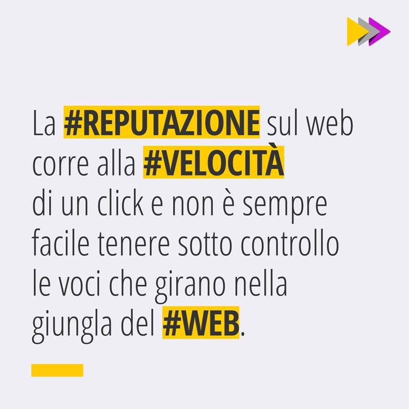 La #REPUTAZIONE sul web corre alla #VELOCITÀ di un click e non è sempre facile tenere sotto controllo le voci che girano nella giungla del #WEB.