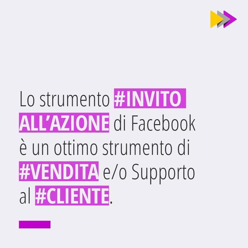 Lo strumento #INVITO ALL'AZIONE di Facebook è un ottimo strumento di #VENDITA e/o Supporto al #CLIENTE.
