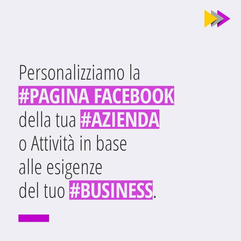 Personalizziamo la #PAGINA FACEBOOK della tua #AZIENDA o Attività in base alle esigenze del tuo #BUSINESS.