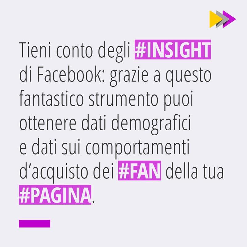 Tieni conto degli #INSIGHT di Facebook grazie a questo fantastico strumento puoi ottenere dati demografici e dati sui comportamenti d'acquisto dei #FAN della tua #PAGINA.