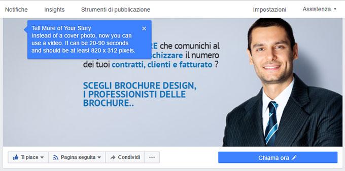 Faceboook introduce i video come-immagine di testata