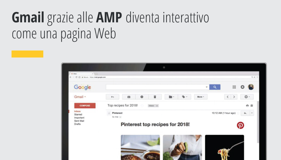 Grazie alle AMP (Accelerated Mobile Pages) Gmail diventa interattivo come una pagina Web