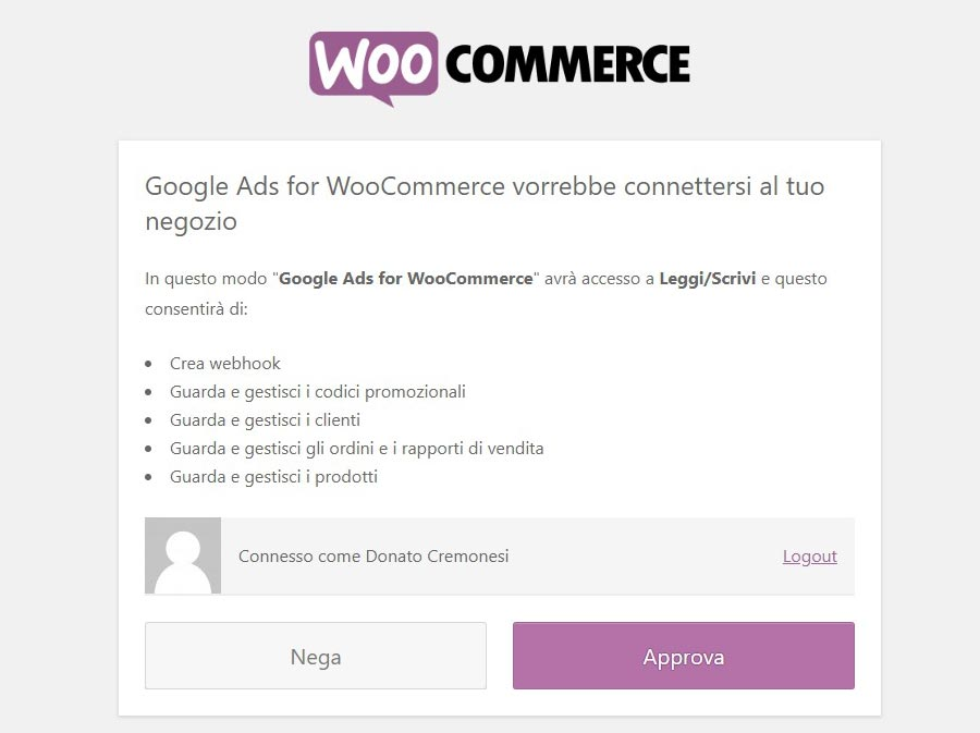 Collegare Google Ads a WooCommerce