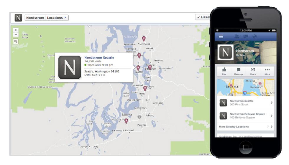 Facebook Location per gestire i punti vendita delle catene