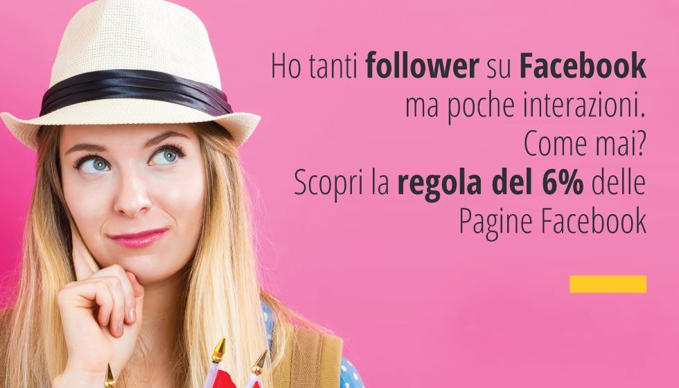 Ho Tanti Follower Su Facebook Ma Poche Interazioni. Come Mai? Scopri La Regola Del 6% Delle Pagine Facebook