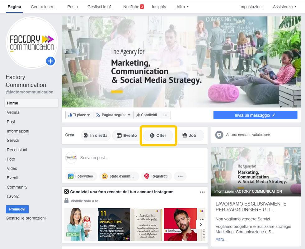 Pagina Facebook Factory Communication