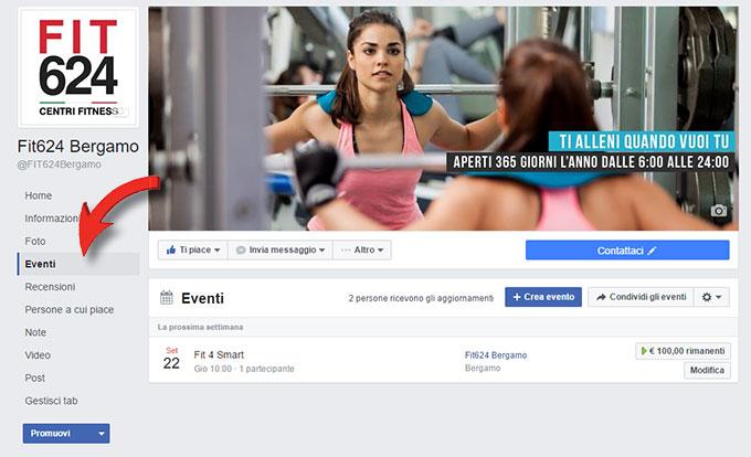 creare un Evento su Facebook da inserire nel sito