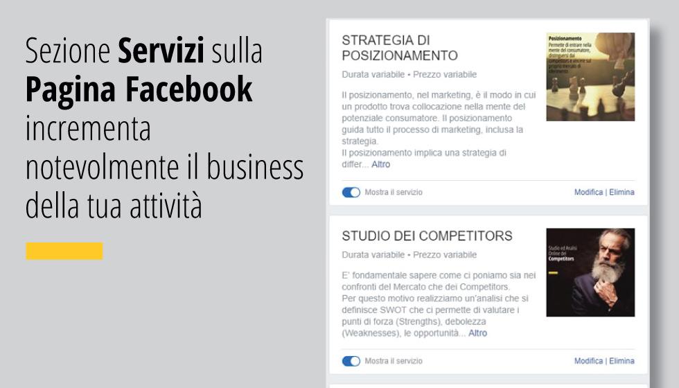Sezione Servizi Sulla Pagina Facebook Incrementa Notevolmente Il Business Della Tua Attività