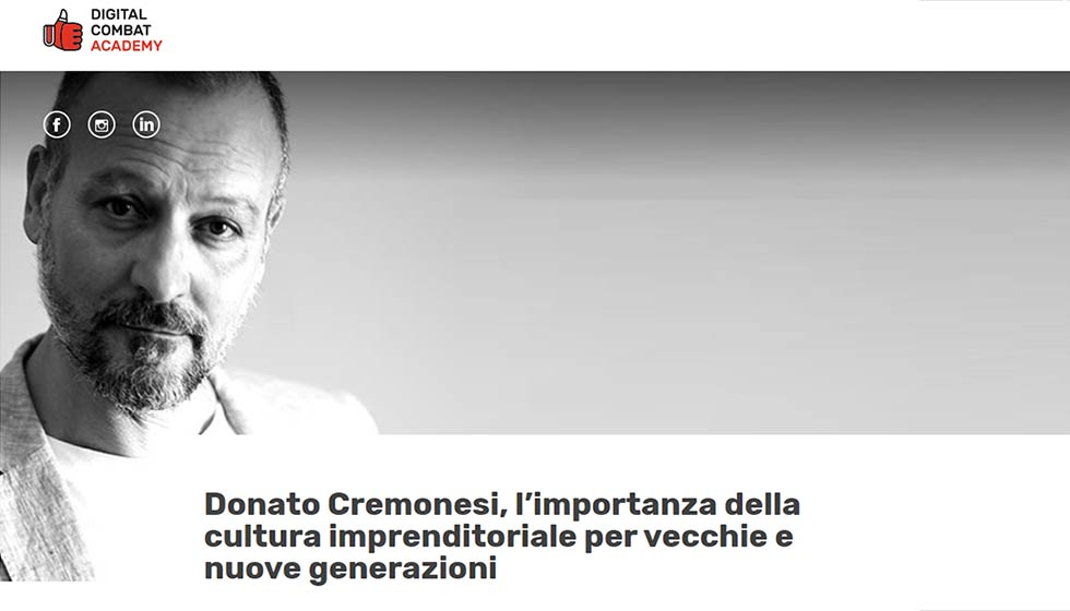 In Questa Immagine Donato Cremonesi, CEO Factory Communication, Intervistato Da Digital Combat Academy