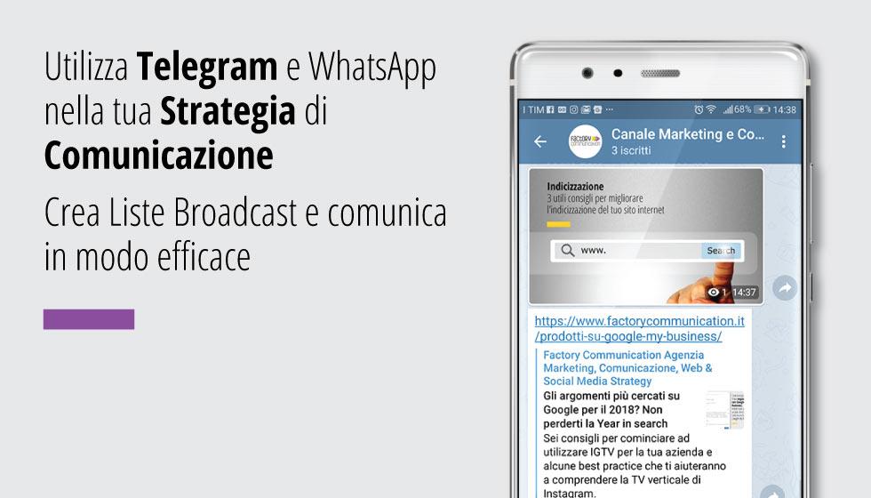Utilizza I Canali Telegram E WhatsApp Nella Tua Strategia Di Comunicazione