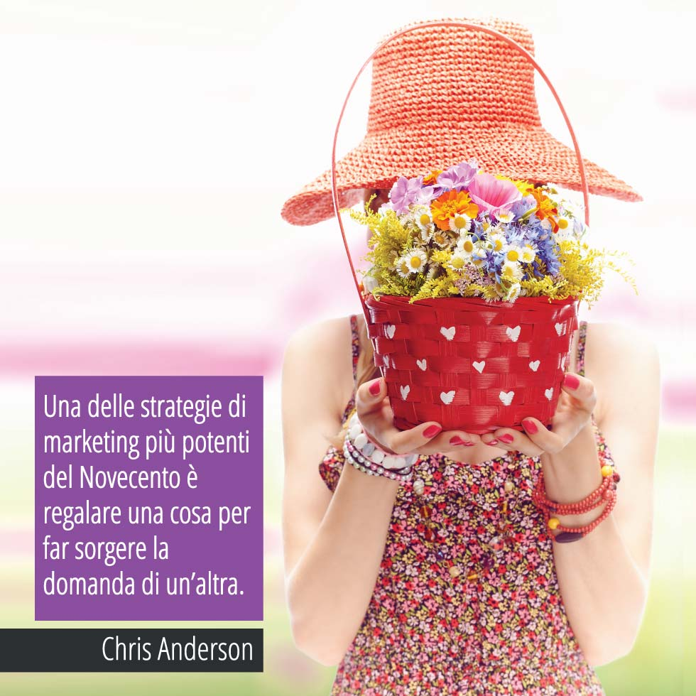 Una Delle Strategie Di Marketing Più Potenti Del Novecento è Regalare Una Cosa Per Far Sorgere La Domanda Di Un'altra. Chris Anderson