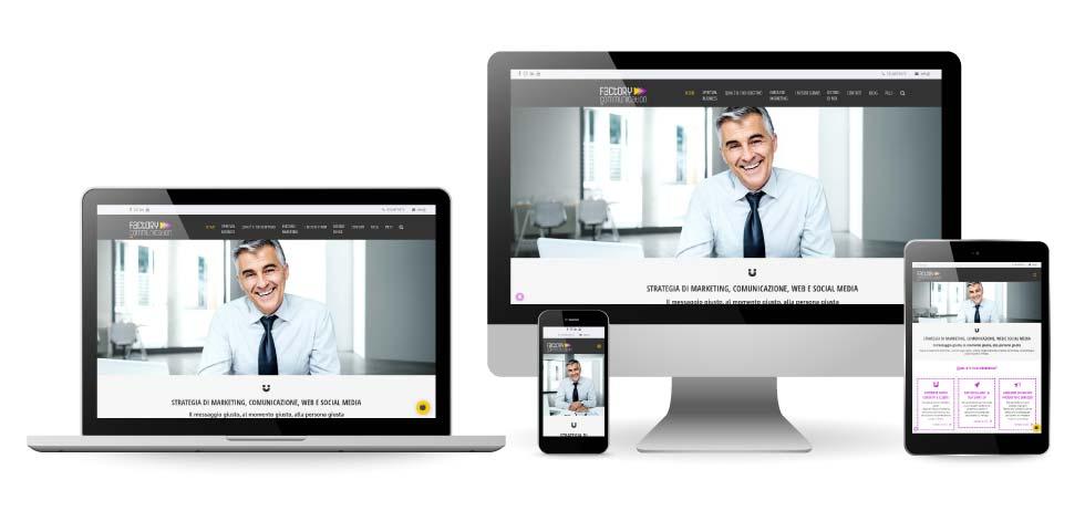 Factory Communication visualizzazione Web Responsive del sito web