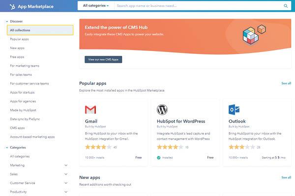 CRM HubSpot Starter Edition Marketplace Applicazioni
