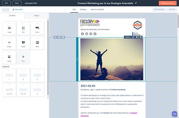 CRM HubSpot Starter Edition Creazione Delle Newsletter