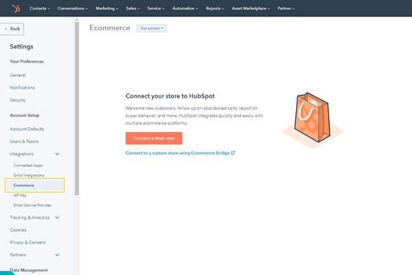 CRM HubSpot Starter Edition Integrazione Con E-commerce