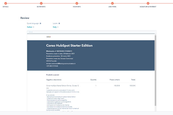 CRM HubSpot Starter Edition Offerta Pronta Da Stampare