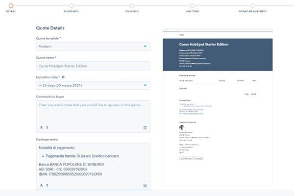 CRM HubSpot Starter Edition Setup Di Una Offerta