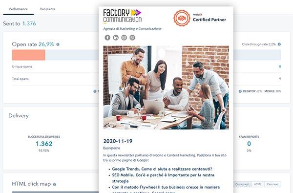 CRM HubSpot Starter Edition Spedizione Newsletter