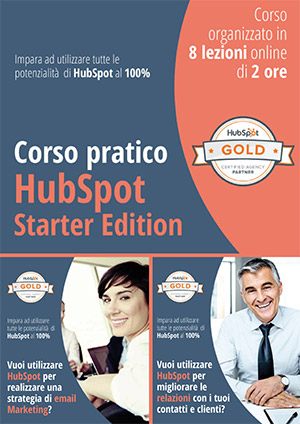 Copertina Brochure Corso HubSpot versione Starter Edition