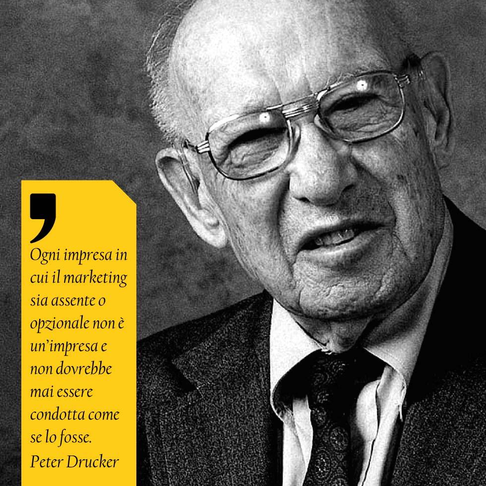 Ogni Impresa In Cui Il Marketing Sia Assente O Opzionale Non è Un'impresa E Non Dovrebbe Mai Essere Condotta Come Se Lo Fosse. Peter Drucker