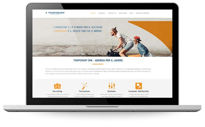 Factory Communication ha realizzato il sito internet di Temporary SPA