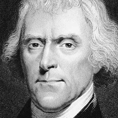 Thomas Jefferson Politico, scienziato e architetto statunitense e 3º presidente degli Stati Uniti d'America.