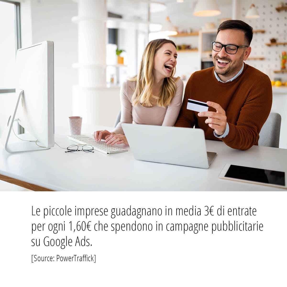Statistica powerftraffic campagne pubblicitarie su Google Ads