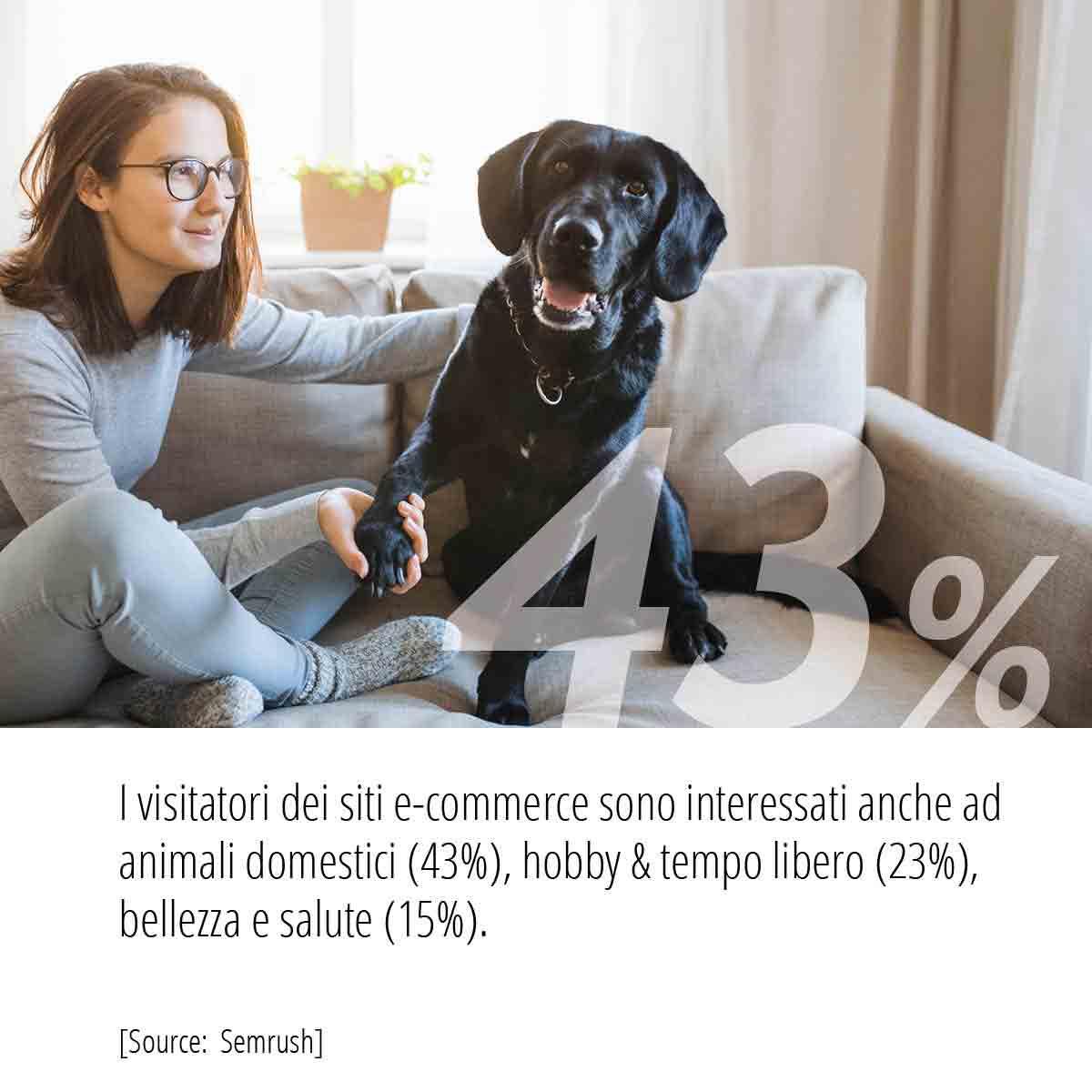 Statistiche Campagne PPC animali domestici tempo libero bellezza e salute